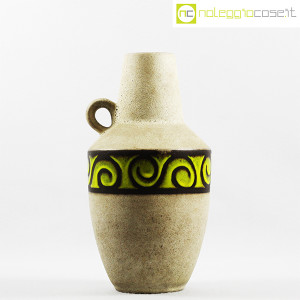 Vaso anfora in gres con decoro verde (2)