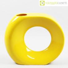 Vaso giallo grande con foro