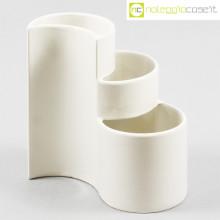 Ceramiche Brambilla vaso a spicchi bianco