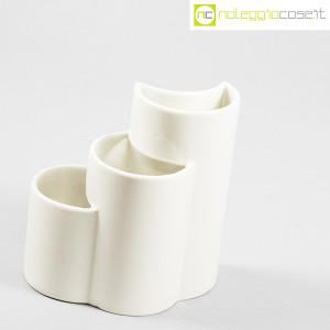 Ceramiche Brambilla, vaso a spicchi bianco, Giotto Stoppino (3)