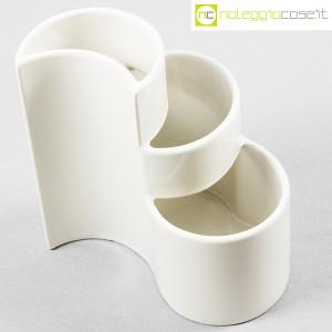 Ceramiche Brambilla, vaso a spicchi bianco, Giotto Stoppino (4)