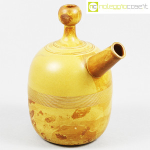 Ceramiche Franco Pozzi, brocca gialla informale, Ambrogio Pozzi (1)