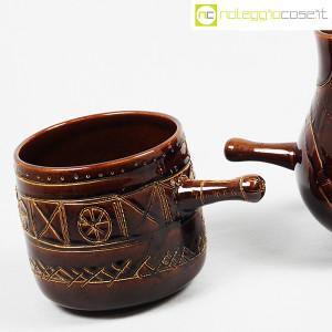 Ceramiche Franco Pozzi, coppia pentolini marroni decorati, Ambrogio Pozzi (6)