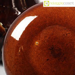 Ceramiche Franco Pozzi, coppia pentolini marroni decorati, Ambrogio Pozzi (9)