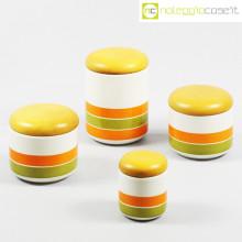 Ceramiche Pozzi set barattoli a righe
