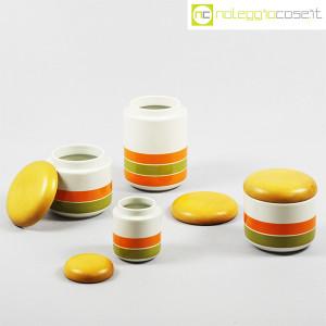 Ceramiche Franco Pozzi, set barattoli a righe con tappo, Ambrogio Pozzi (5)