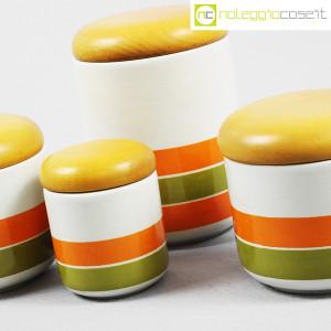 Ceramiche Franco Pozzi, set barattoli a righe con tappo, Ambrogio Pozzi (7)