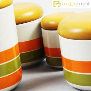 Ceramiche Franco Pozzi, set barattoli a righe con tappo, Ambrogio Pozzi (8)