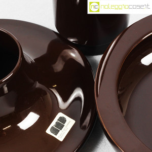 Ceramiche Franco Pozzi, set ceramiche componibili MARRONE, Ambrogio Pozzi (8)