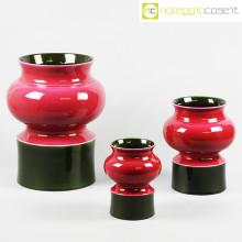 Ceramiche Pozzi set vasi viola e verde