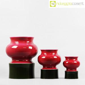 Ceramiche Franco Pozzi, set vasi viola e verde, Ambrogio Pozzi (2)