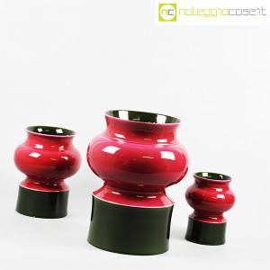 Ceramiche Franco Pozzi, set vasi viola e verde, Ambrogio Pozzi (3)