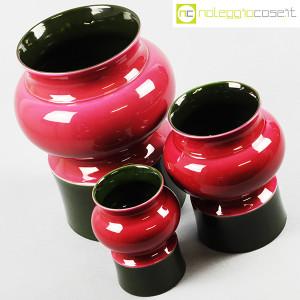 Ceramiche Franco Pozzi, set vasi viola e verde, Ambrogio Pozzi (4)
