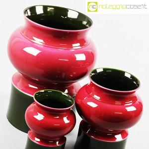 Ceramiche Franco Pozzi, set vasi viola e verde, Ambrogio Pozzi (5)