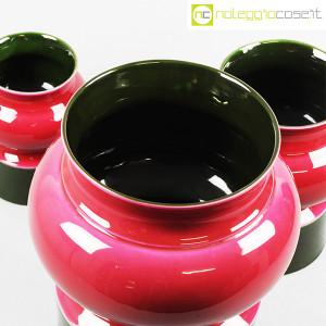 Ceramiche Franco Pozzi, set vasi viola e verde, Ambrogio Pozzi (6)