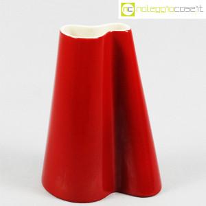 Danese Milano, vaso serie Tremiti rosso, Angelo Mangiarotti (1)