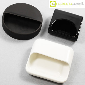Gabbianelli, set posacenere bianco e nero (4)