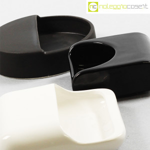 Gabbianelli, set posacenere bianco e nero (5)