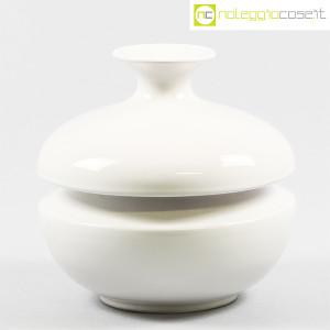 Il Picchio, vaso bianco con strozzatura, Enzo Bioli (1)