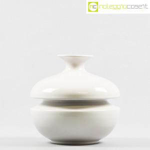 Il Picchio, vaso bianco con strozzatura, Enzo Bioli (2)