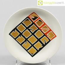 Remo Bianco piatto con decori oro
