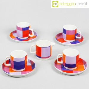Ceramiche Franco Pozzi, set serie Compact, lattiera e tazzine, Ambrogio Pozzi (1)