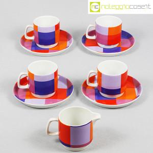 Ceramiche Franco Pozzi, set serie Compact, lattiera e tazzine, Ambrogio Pozzi (2)