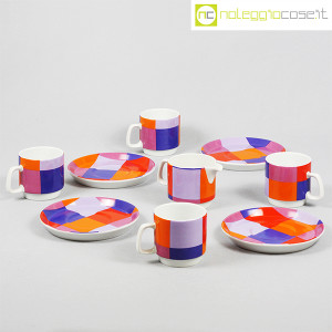 Ceramiche Franco Pozzi, set serie Compact, lattiera e tazzine, Ambrogio Pozzi (5)
