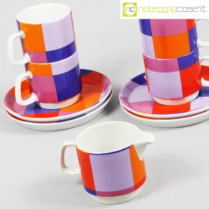 Ceramiche Franco Pozzi, set serie Compact, lattiera e tazzine, Ambrogio Pozzi (6)