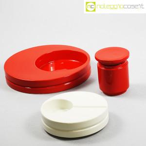 SIC Ceramiche Artistiche, set impilabile rosso e bianco (3)