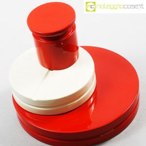 SIC Ceramiche Artistiche, set impilabile rosso e bianco (4)