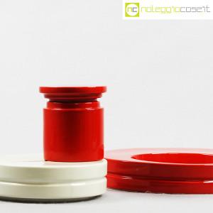 SIC Ceramiche Artistiche, set impilabile rosso e bianco (6)