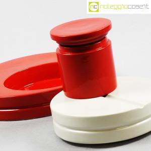 SIC Ceramiche Artistiche, set impilabile rosso e bianco (7)