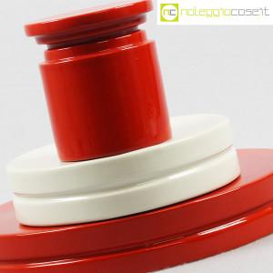 SIC Ceramiche Artistiche, set impilabile rosso e bianco (8)