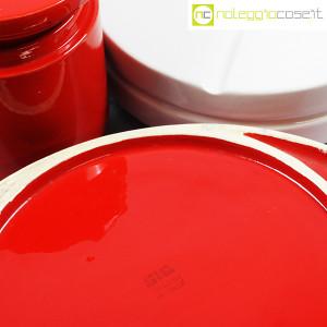 SIC Ceramiche Artistiche, set impilabile rosso e bianco (9)