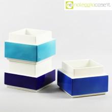 Vasi azzurro blu e bianco