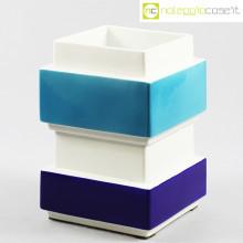 Vaso azzurro blu e bianco