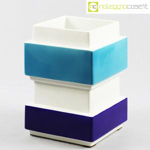 Vaso azzurro blu e bianco, Silvio Piano (1)