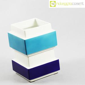 Vaso azzurro blu e bianco, Silvio Piano (3)