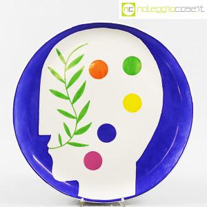 Ceramica Gatti Faenza, piatto Pensiero Effervescente, Mimmo Paladino (1)