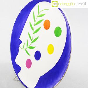 Ceramica Gatti Faenza, piatto Pensiero Effervescente, Mimmo Paladino (4)
