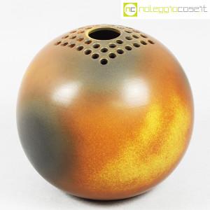 Ceramiche Bucci, grande vaso sfera color terre, Franco Bucci (1)