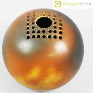 Ceramiche Bucci, grande vaso sfera color terre, Franco Bucci (4)