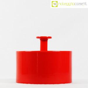 Ceramiche Franco Pozzi, biscottiera rossa con coperchio, Ambrogio Pozzi (2)
