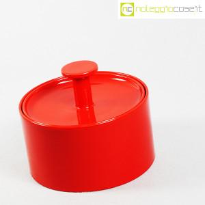 Ceramiche Franco Pozzi, biscottiera rossa con coperchio, Ambrogio Pozzi (3)