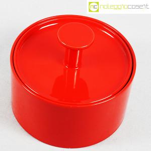 Ceramiche Franco Pozzi, biscottiera rossa con coperchio, Ambrogio Pozzi (4)