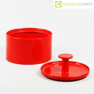 Ceramiche Franco Pozzi, biscottiera rossa con coperchio, Ambrogio Pozzi (5)