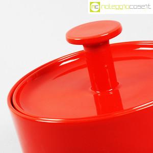 Ceramiche Franco Pozzi, biscottiera rossa con coperchio, Ambrogio Pozzi (6)