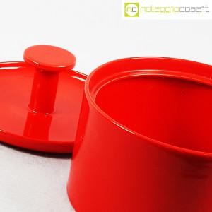 Ceramiche Franco Pozzi, biscottiera rossa con coperchio, Ambrogio Pozzi (7)