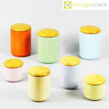 Ceramiche Pozzi set barattoli pastello